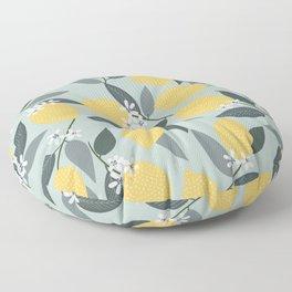 Blue Lemon Theme Floor Pillow