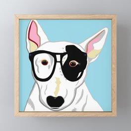 Hipster Bull Terrier Framed Mini Art Print