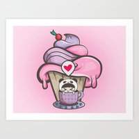 Aiko Cupcake Art Print