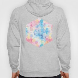 Hive: pink and blue hexagon pattern Hoody
