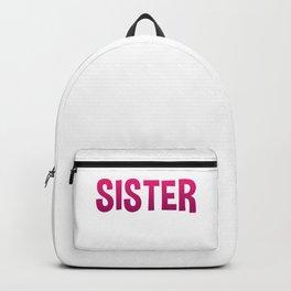 Flippin Sister Gymnastic Gymnast Tumbling Funny Gift Backpack