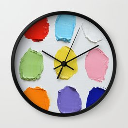 Polka Daub Slabs Wall Clock