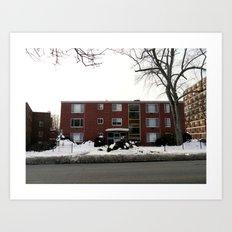 Mid-Twentieth Century Apartment in Hartford, CT Art Print