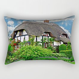 Quaint English Cottage Rectangular Pillow