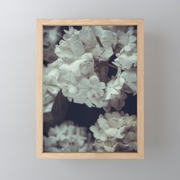 White lilac Framed Mini Art Print