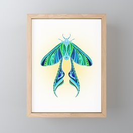 EtEHtH Moth (Inverted) Framed Mini Art Print