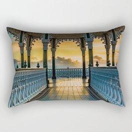 The Victorian Bandstand at Brighton Rectangular Pillow