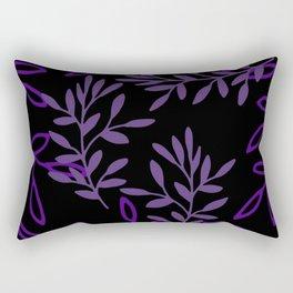 Leafy Purple Rectangular Pillow