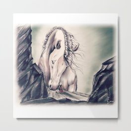 FATHER HORSE Metal Print