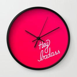Hey badass   [gradient] Wall Clock
