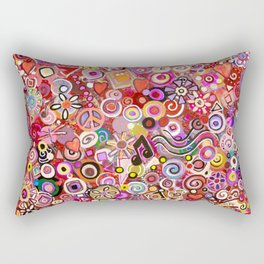 Valentine Painted Abstract Rectangular Pillow