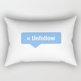 Unfollow Social Icon Rectangular Pillow