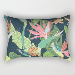 Tropical Bird of Paradise Rectangular Pillow