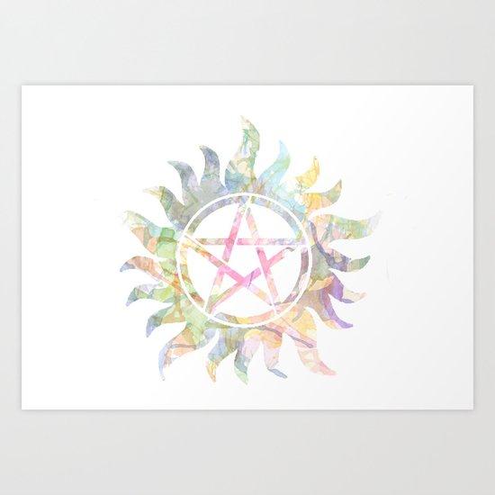 Supernatural watercolours Art Print