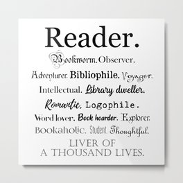 Reader Description Metal Print