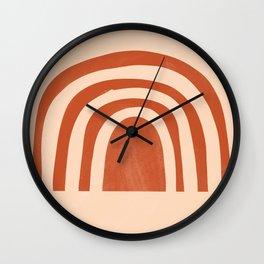bronze rainbow Wall Clock