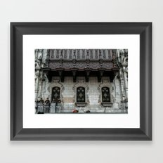 Police, dogs. Framed Art Print