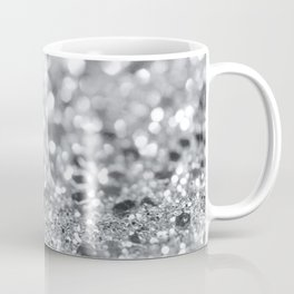 Silver Gray Lady Glitter #1 #shiny #decor #art #society6 Coffee Mug