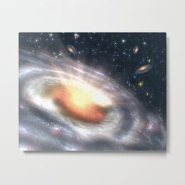 850. Bursting with Stars and Black Holes Artist Concept Metal Print