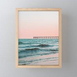 Beach Pier Sunrise Framed Mini Art Print