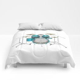 Green Drum Kit Comforters