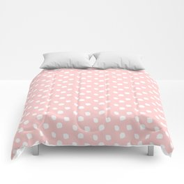 Darling Dots Blush Pink Comforters
