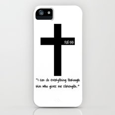 Philippians 4:13 iPhone (5, 5s) Slim Case