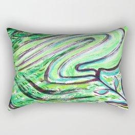 A Windy Green Rectangular Pillow