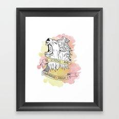 Strength & Courage Framed Art Print