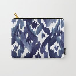 Indigo Blue Ikat Carry-All Pouch