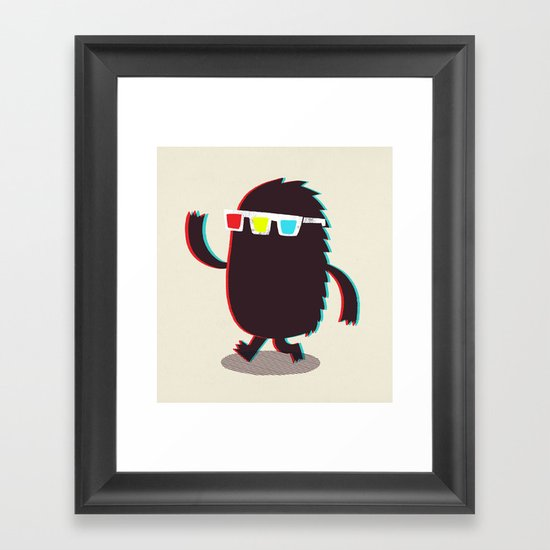 MONSTER 3d Framed Art Print
