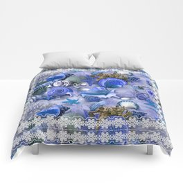 Healing Seashells With Lace  Comforters