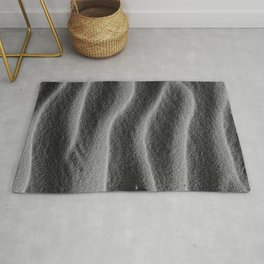 Sand_Ripples - Black and White Rug