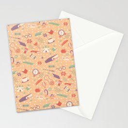 Read books pattern Stationery Cards
