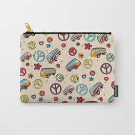 Retro  Hippie  Pattern 2 Carry-All Pouch