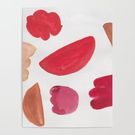 38    | 190408 Red Abstract Watercolour Poster