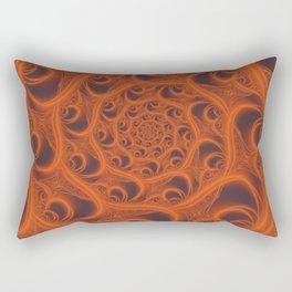 Fractal Web in Halloween Orange Rectangular Pillow