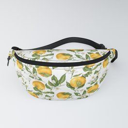 Citrus OrangeTree Branches with Flowers and Fruits Fanny Pack