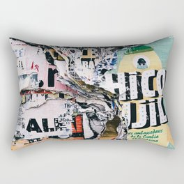 Torn mexican posters wall Rectangular Pillow
