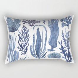 Blue Seaweeds Rectangular Pillow
