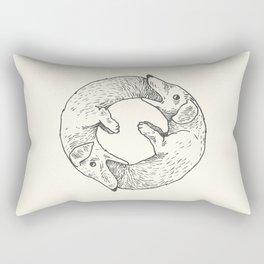 Dog Eat Dog Rectangular Pillow
