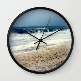 Sea Foam #3 Wall Clock