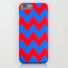 Red and Blue Chevron Slim Case iPhone 6