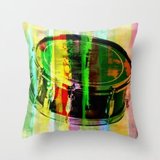 Drum Abstract Throw Pillow