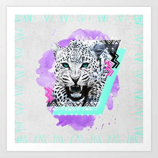Fierce Leopard Art Print
