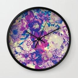 Cool Toned Interstellar Blooms Wall Clock