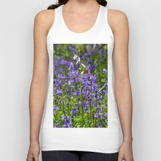 Rare White Bluebell Unisex Tank Top