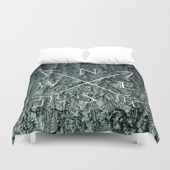 North south west east Duvet Cover