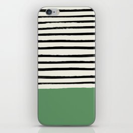 Moss Green x Stripes iPhone Skin