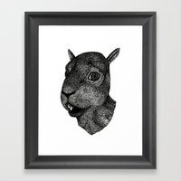 Portrait of a Squirrel Framed Art Print